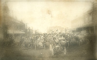 This photo was found in a trunk addressed to my Grandmother and dated 1913, Ellinwood, KS.